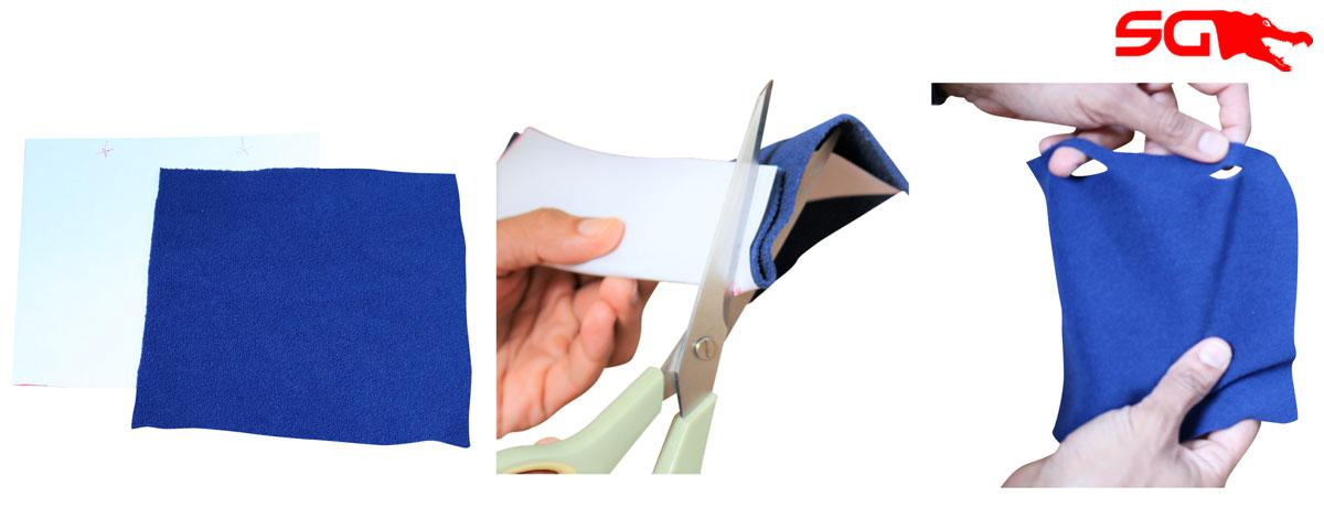Making DIY Cloth Face Mask Filter for Slick Gaiter Neck Gaiter Filter Pocket Step 3
