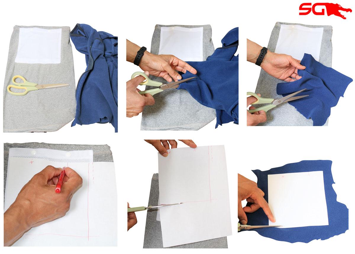 Making DIY Cloth Facemask Filter for Slick Gaiter Neck Gaiter Filter Pocket Step 2