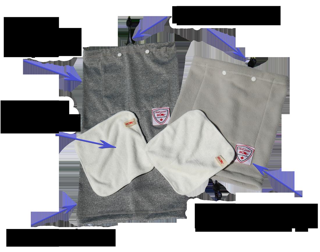 Quality Fabric and Stitching Adjustable Neck Gaiter Buff Set Slick Gaiter