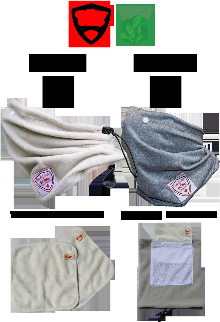 Slick Gaiter Neck Buff Adjustable Neck Gaiter Set with Filter with Fleece Cold Weather Neck Gaiter and Sports Warm Weather Neck Gaiter