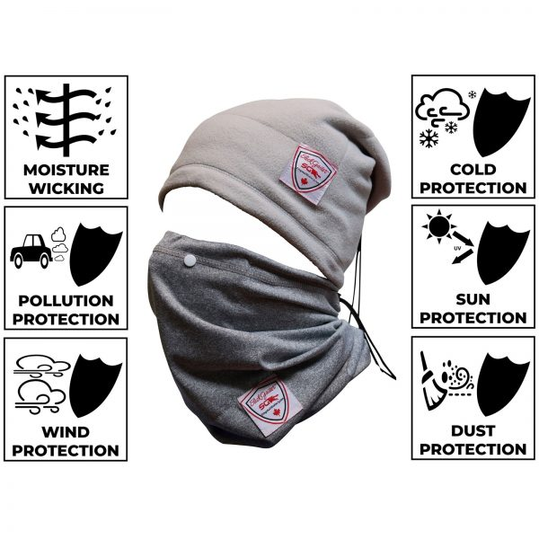 Slick Neck Gaiter Face Mask Set Protects from Wind Sun Cold Pollutants and Dust
