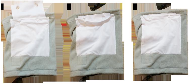 Using Slick Gaiter Cloth Filters in Neck Gaiter Filter Pocket