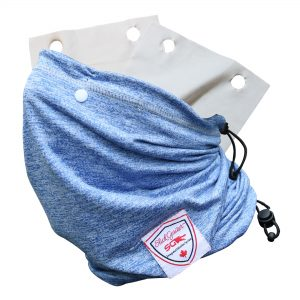 Slick Gaiter Adjustable Size Neck Gaiter UV Sports Moisture Wicking for 3 Ply Cloth Filter Pocket with Washable Sustainable Reusable Cloth Face Mask Air Filters